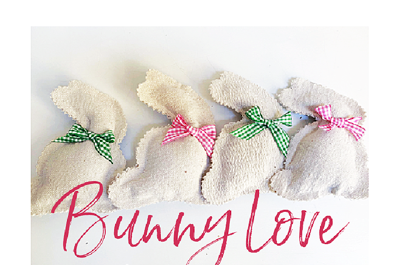 Drop Cloth No-Sew Bunnies