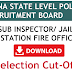 TSLPRB CUT OFF SUB INSPECTOR SELECTION FIRE STATION OFFICER AND JAILOR