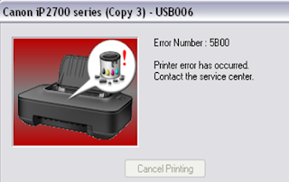 Cara Mereset Printer Canon iP2770 Error 5B00