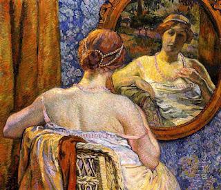Тео ван Рейссельберге Théo van Rysselberghe Женщина перед зеркалом
