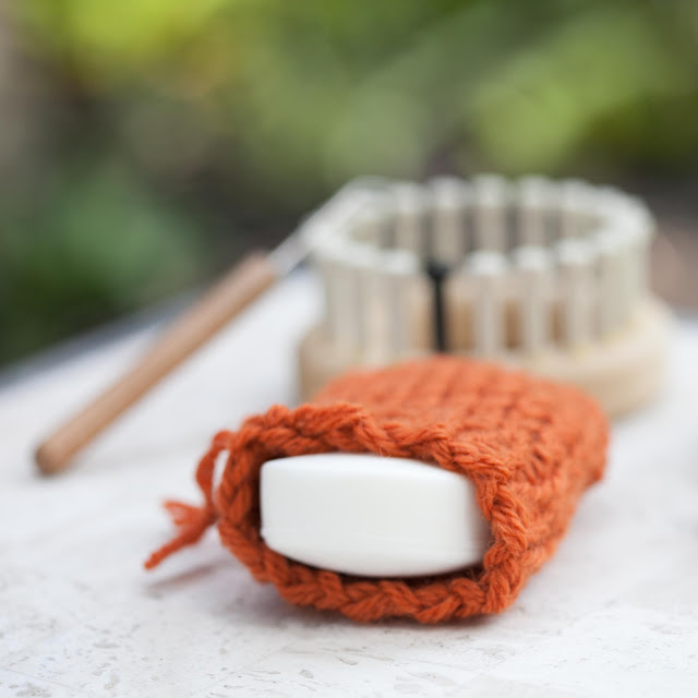 Free Loom Knit Soap Sack Pattern Loom Knitting By This Moment Is Good