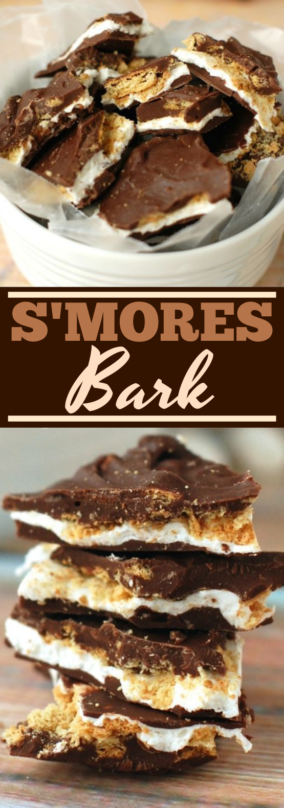 S'mores Chocolate Bark #chocolate #desserts