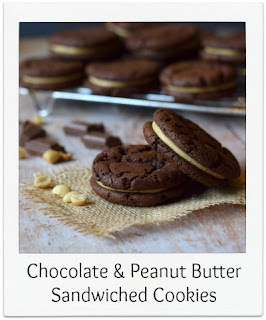 Inspired by the popular Oreo biscuit, this Chocolate & Peanut Butter Sandwich Cookie recipe is certainly one to try!  The recipe produces a cookie style biscuit which is packed with peanut butter and chocolate flavour, they're are easy to make, and will satisfy the fussiest of cookie fans!