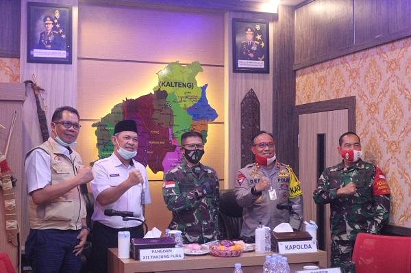 Tingkatkan Sinergitas, Kapolda Kalteng Terima Kunjungan Pangdam Tanjung Pura dan Danrem 102 Panju/Panjung