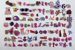 purple TomToy Colorful I spy trinkets, Rainbow miniatures, Rainbow I spy bag filler, Colors I spy bottle, Color sorting activities, Color matching games