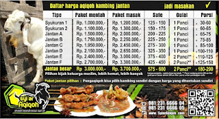 Jasa Paket Aqiqah 2019 Surabaya Sidoarjo Gresik
