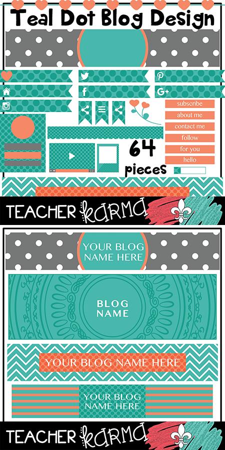 Teal Dots Blog Design Elements TeacherKARMA.com