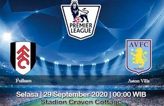 Prediksi Fulham Vs Aston Villa 29 September 2020