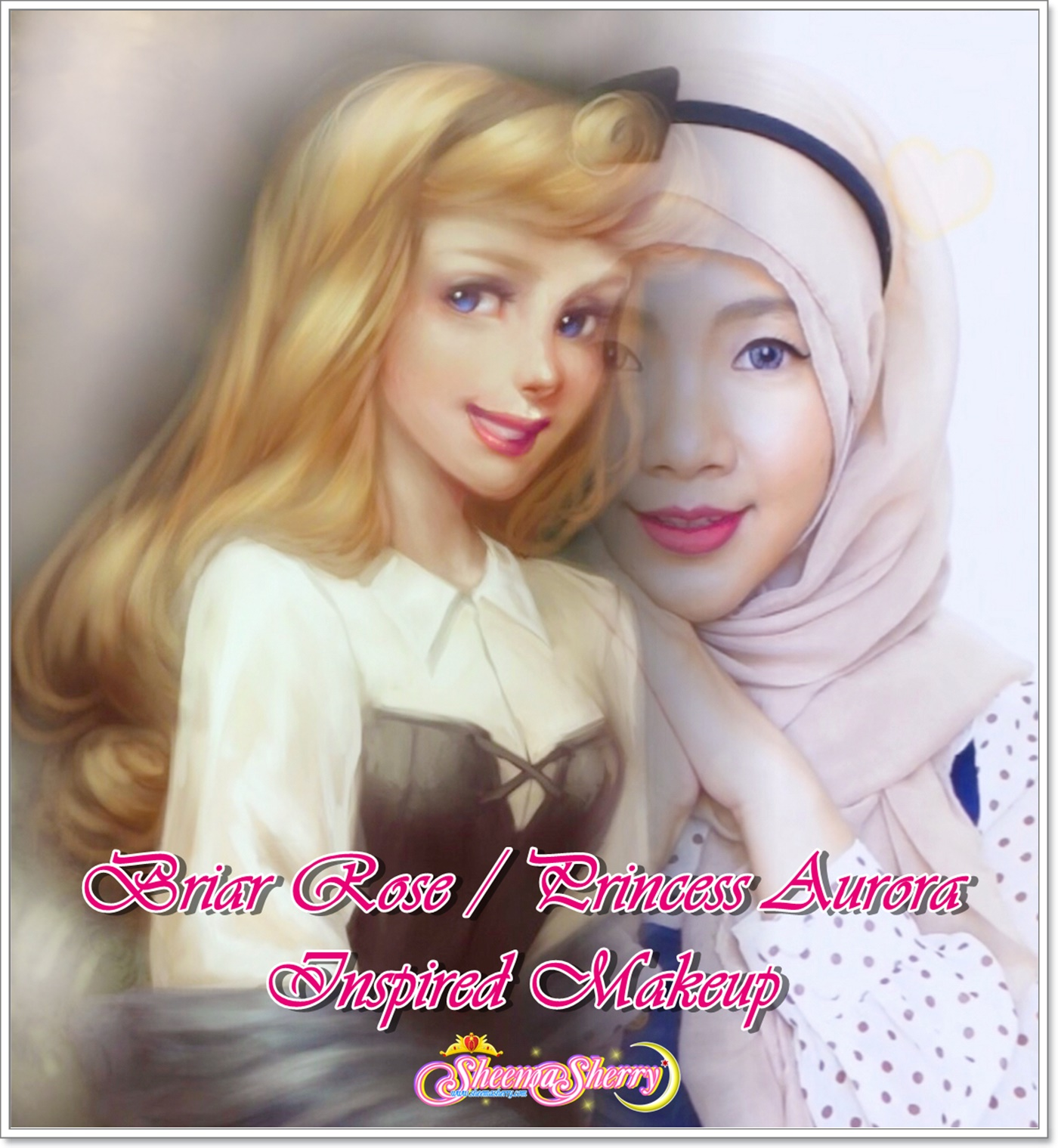Disney Briar Rose / Princess Aurora Sleeping Beauty Makeup Kawaii Hijabi