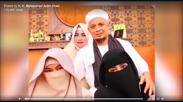 Bikin Jomblo Tambah Ngenes, Ust Arifin Ilham Foto Bareng 3 Isteri Bicara Keluarga Sakinah