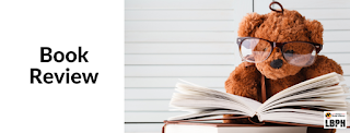book review; teddy bear with glasses reading book