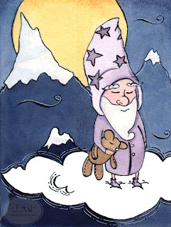 Goodnight Gnome Ink Illustration by Tawnya Boe