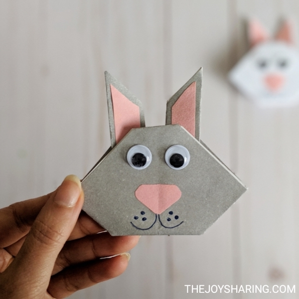 Origami for Kids - Origami Rabbit - Origami Animals ... | 600x600