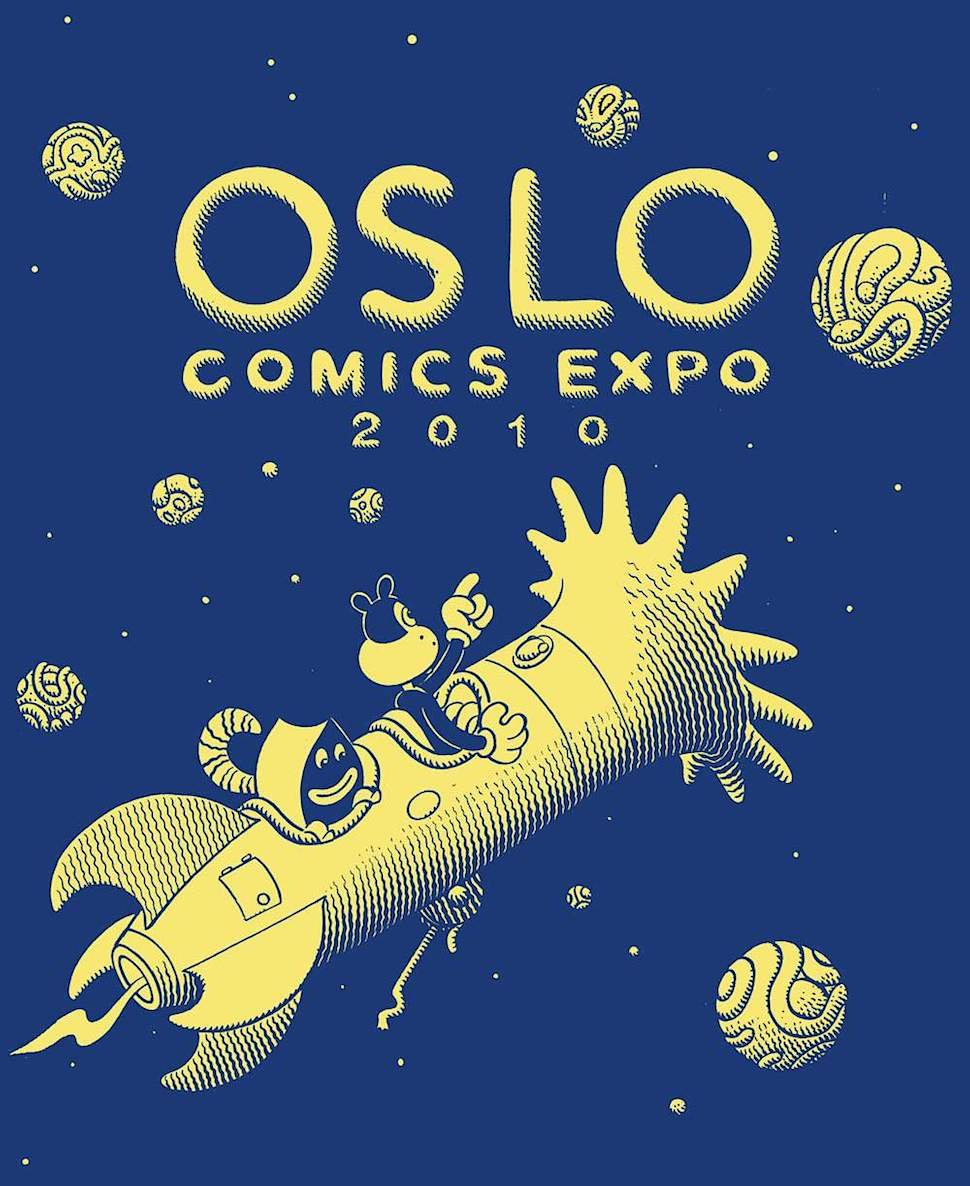 Jim Woodring poster for Olso expo