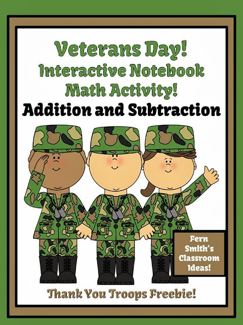 http://www.teacherspayteachers.com/Product/FREE-Veterans-Day-Addition-Subtraction-Interactive-Notebook-Activities-948724