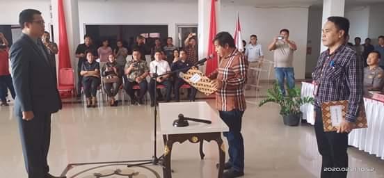 Lalandos Resmi diangkat Penjabat Sekda Mitra, Sumendap : Jalankan Tugas dan Tanggung Jawab Dengan Baik