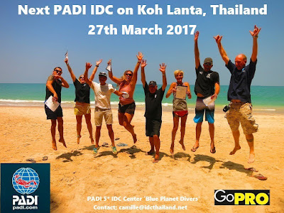 Next PADI IDC on Koh Lanta, Thailand starts 27th March