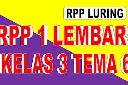 RPP 1 LEMABR KELAS 3 TEMA 6 - RPP LURING