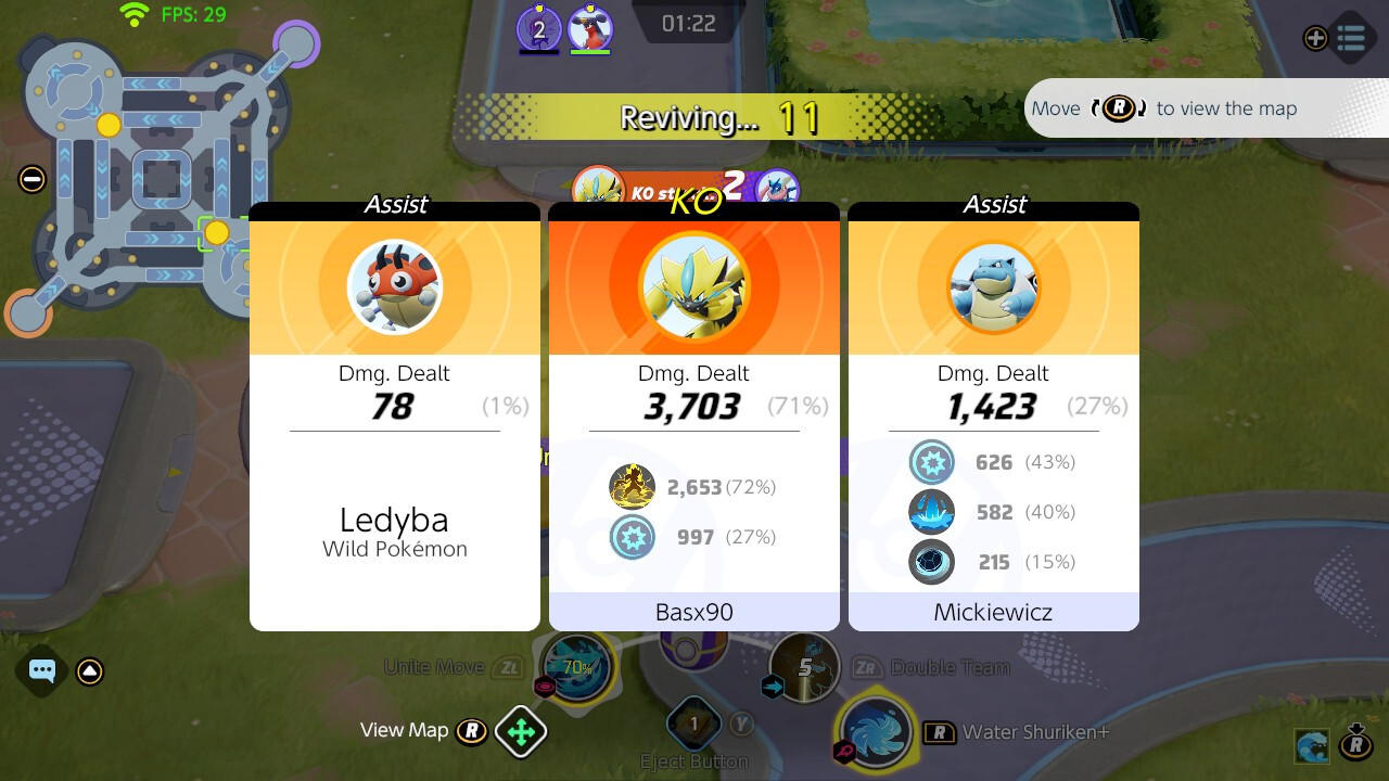 Check the status of your teammates and rivals