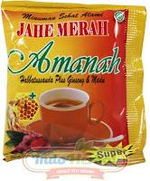 Jahe Merah Amanah Super (+ Habbatussauda, ginseng dan madu)|instan