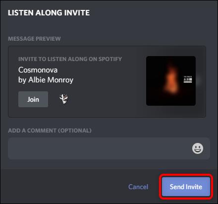 """انقر فوق """"إرسال دعوة""""."""