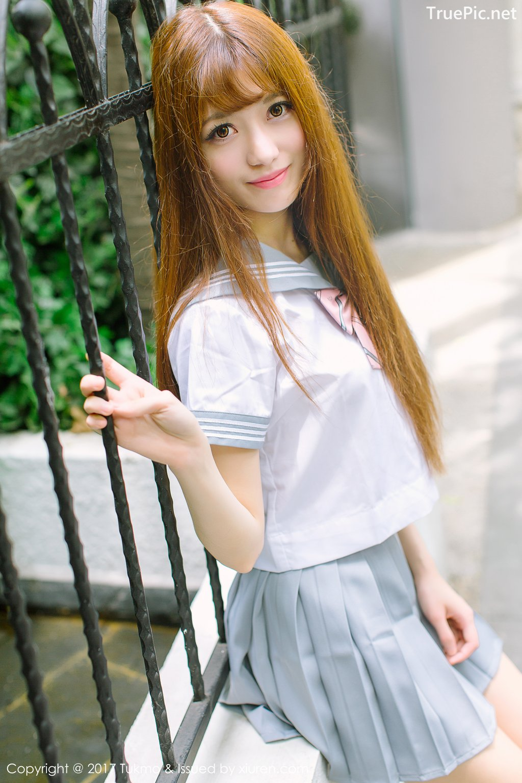 Image-Tukmo-Vol-094-Model-Zhao-Nai-Ying-赵乃莹-Lovely-School-Girl-With-Student-Uniform-TruePic.net- Picture-2