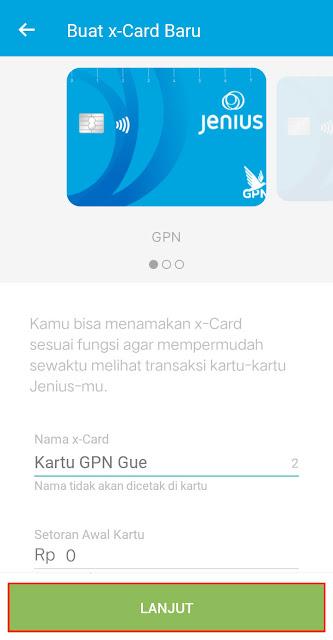 Buat x-Card Jenius GPN