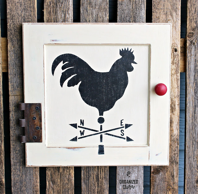 Cabinet Door Repurposed As Rooster Farmhouse Decor