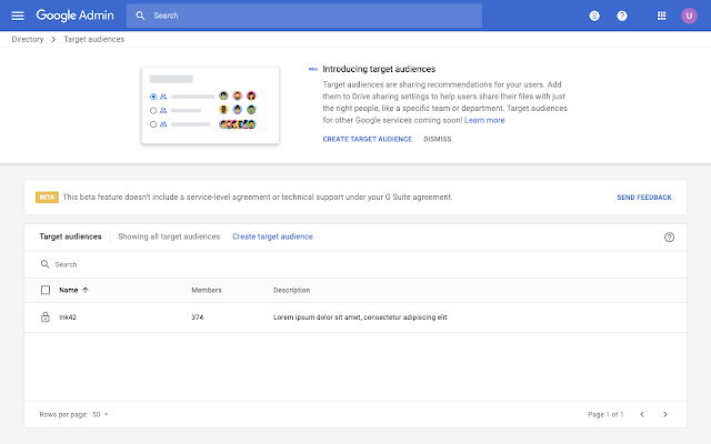 Use target audiences in beta to limit Google Drive sharing to specific groups 2