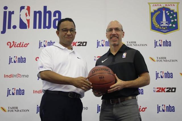 Anies Gadeng NBA Kembangkan Olahraga Basket Jakarta
