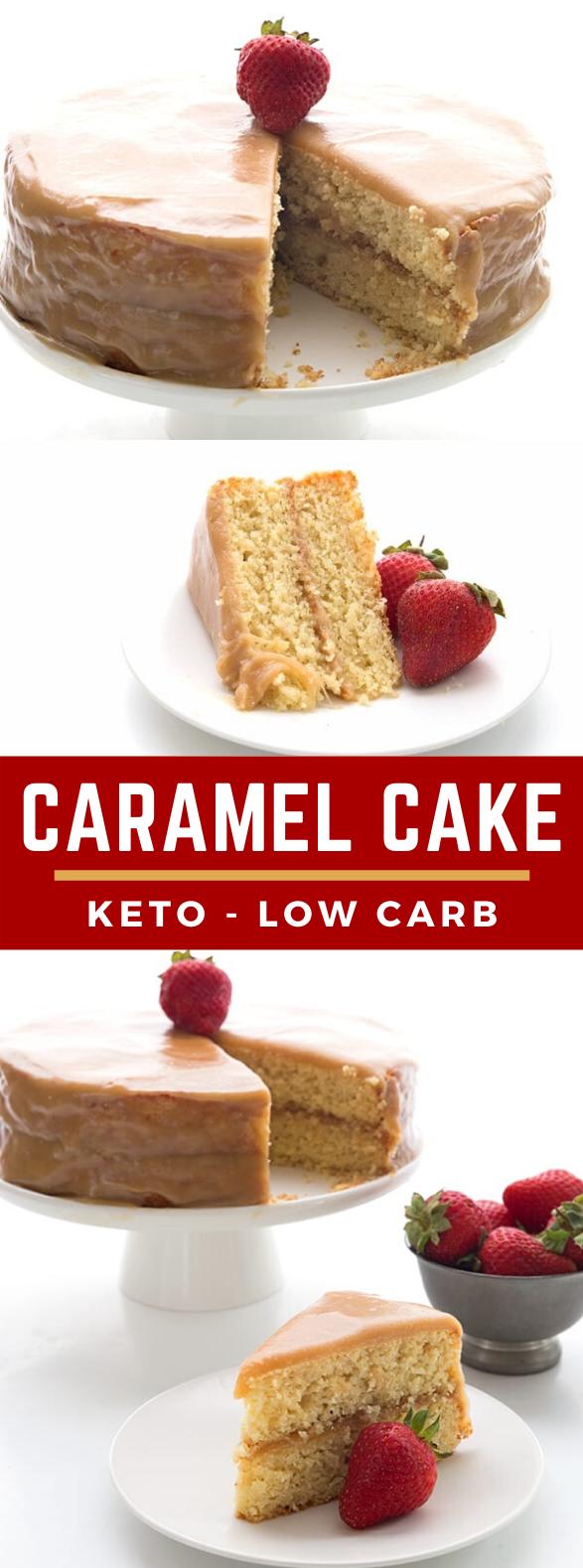 CARAMEL CAKE – KETO LOW CARB RECIPE #healthydessert #sugarfree