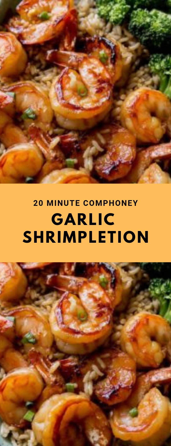 20 Minute Honey Garlic Shrimp #DINNER #EASY #QUICK #GARLIC #HEALTHY