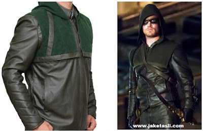 Model Jaket Kulit Green Arrow