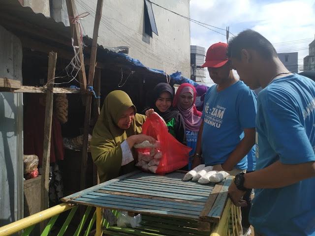 Blusukan di Pasar Gintung, dr.Zam Sampaikan Visi dan Misi IKAM