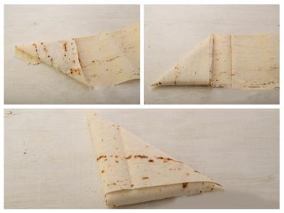 Сирні трикутники з лаваша - як згорнути лаваш трикутником