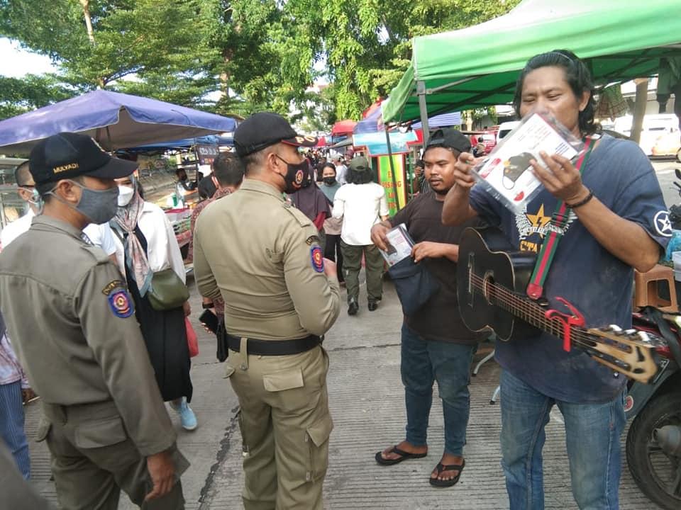 Pastikan Protkes Diterapkan,  Tim Terpadu Kota Batam Datangi Sejumlah Bazar Ramadhan