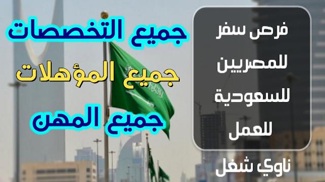 فرصة سفر لكل المؤهلات للسعودية