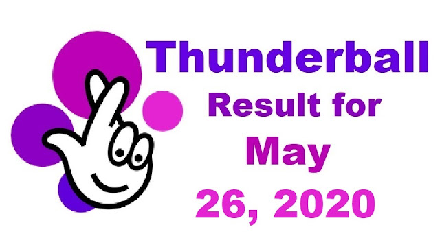Thunderball Results for Tuesday, May 26, 2020