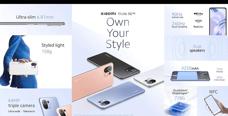 Xiaomi 11 Lite 5G NE's features