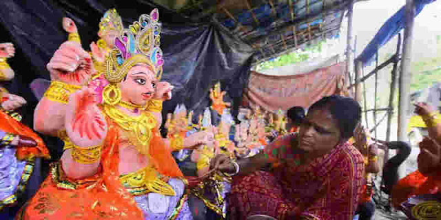 pandal and khichiri on Viswakarma Puja in Guwahati not allowed