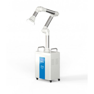 RUIWAN 220W RD80 Dental Extra Oral Aerosol Suction System 4 Filters layer+ 2 UV lamps + Plasma
