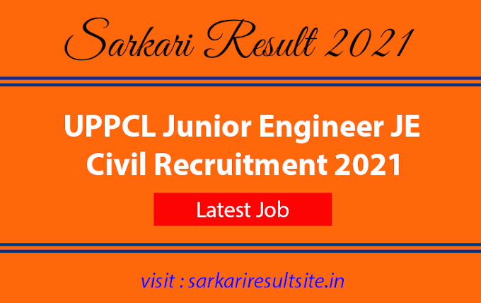 UPPCL Junior Engineer JE Civil Recruitment 2021