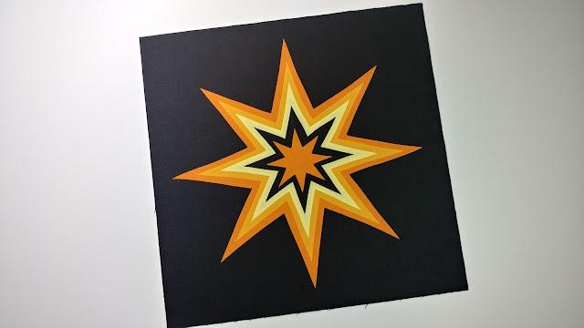 Starburst free quilt block pattern