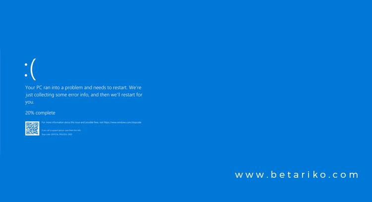 Begini Cara Mengatasi Blue Screen Pada Windows 7/8/10
