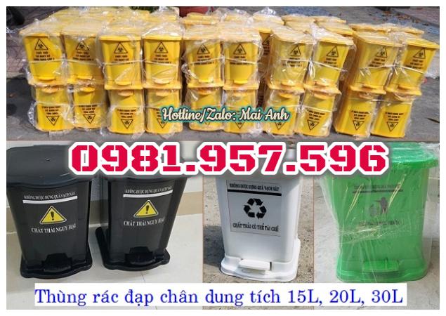 Thùng rác đạp chân 30L, thùng rác Y tế cho bệnh viện