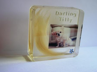 Bespoke paperweight made with pet hair