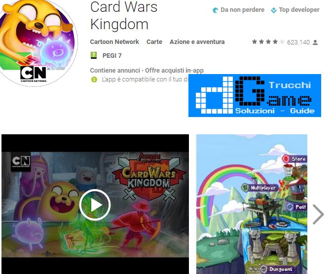 Trucchi Card Wars Kingdom Mod Apk Android v1.0.10
