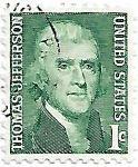 Selo Thomas Jefferson, todos os lados com perfuração