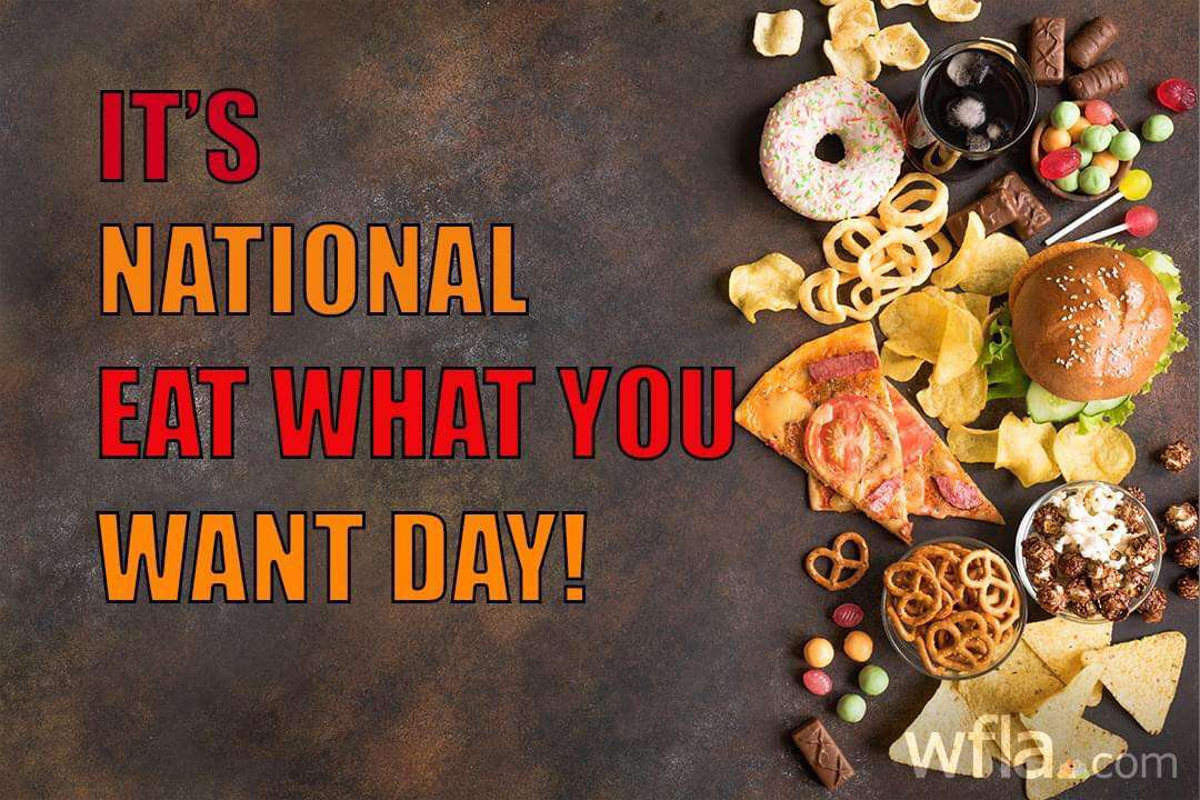 National Eat What You Want Day Wishes for Instagram