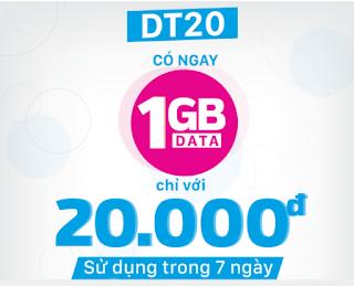 Gói cước DT20 VinaPhone
